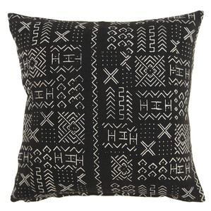 Authentic African Mudcloth Pillow 20 x 20 inches Cotton