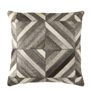 Geometrik Hide Pillow 18 x 18 inches Cowhide