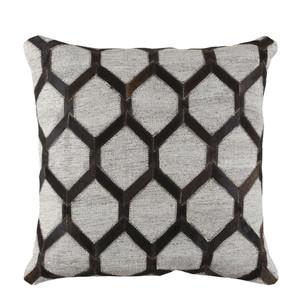 Trellis Hide Pillow - MOD-002 18 x 18 inches Cowhide, Linen