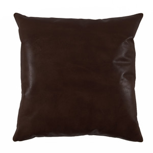 Espresso Brown Leather Pillow 20 x 20 inches