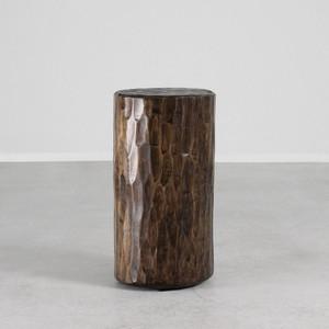 Santa Fe Solid Pine Log 12 dia x 20 H inches Dark Walnut Finish Sealed Topcoat
