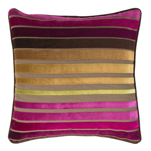 Velvet Touch Pillow - JS-020 18 x 18 inches Cotton, Polyester Style A