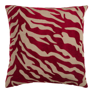 Animal Magnetism Pillow - JS-026 18 x 18 inches Polyester Burgundy