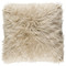 Boudoir Faux Fur Pillow - KHR-005 18 x 18 inches Acrylic, Polyester Off-White