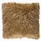 Boudoir Faux Fur Pillow - KHR-005 18 x 18 inches Acrylic, Polyester Camel