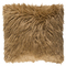 Boudoir Faux Fur Pillow - KHR-005 18 x 18 inches Acrylic, Polyester Camel