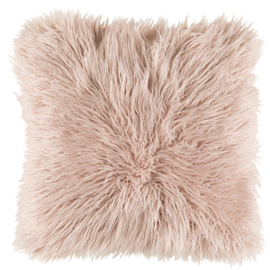 Boudoir Faux Fur Pillow - KHR-005 18 x 18 inches Acrylic, Polyester Pink