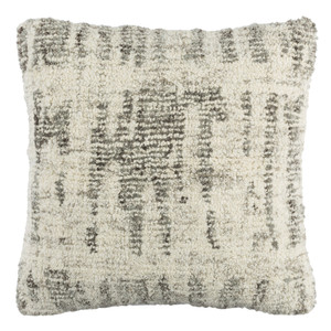 Hand Tufted Wool Pillow 20 x 20 inches Wool, Viscose  Grey