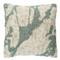 Pollock Tufted Wool Pillow - PML-004 20 x 20 inches Wool Teal