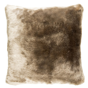 Tan Faux Fur Pillow - IU-001 18 x 18 inches Acrylic
