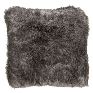 Charcoal Faux Fur Pillow - AN-001 18 x 18 inches Acrylic