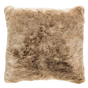 Camel Faux Fur Pillow - OS-001 18 x 18 inches Acrylic