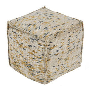 Signac Chenille Pouf - BZPF-001 18 x 18 x 18 H inches Cotton, Polyester