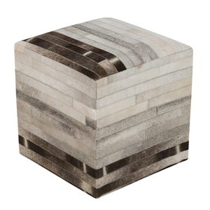 Big Sky Hide Pouf - POUF-243 18 x 18 x 18 H inches Cowhide