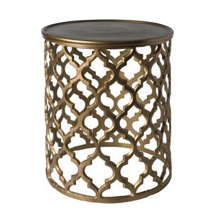 Filigiri Table - HMMT-101 16.5 x 16.5 x 19.5 H inches Aluminum Antique Gold