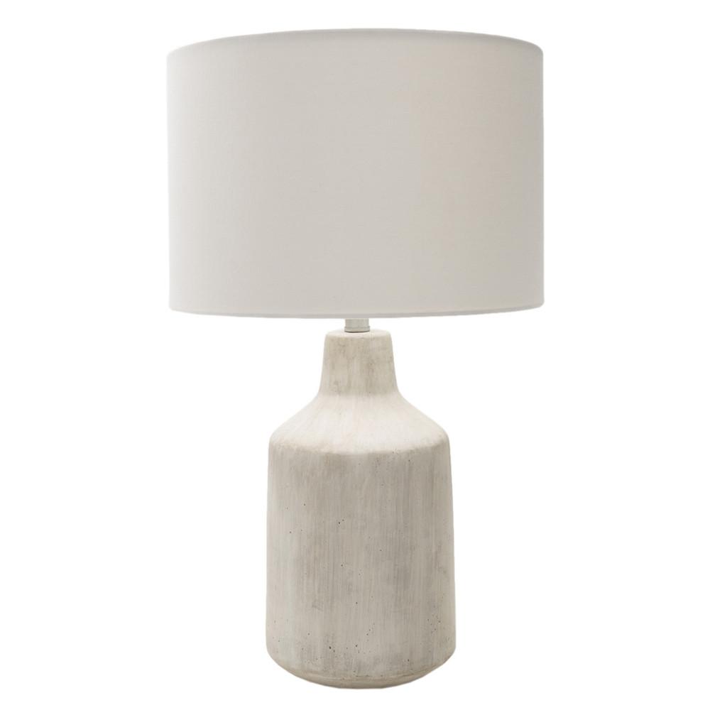Shoreham Concrete Table Lamp - FMN-200 15 dia x 25 H inches Concrete, Linen Off-White
