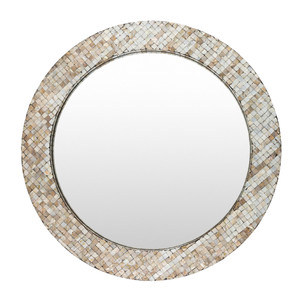 Marquesa Mother Of Pearl Mirror - HRN-002 31.5 dia inches