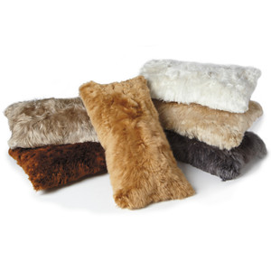 Genuine Alpaca Hide Pillows 11 x 22 inches