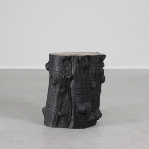 Olivo Stump Stool 14 diameter x 18 H inches Fiberglass