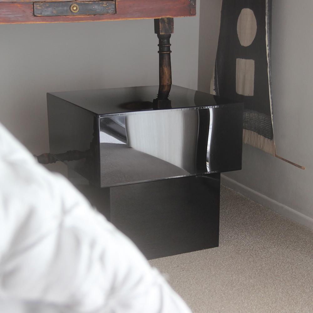 Luminosa Acrylic Cube Table 20 x 20 x 19 H inches Acrylic Black
