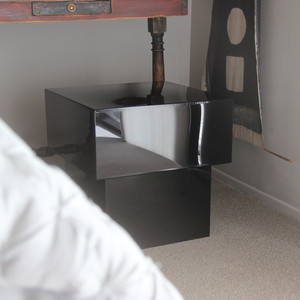 Luminosa Acrylic Cube Table 20 x 20 x 19 H inches Acrylic Black