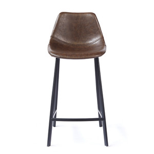 Peralta Counter Stool 20 x 18 x 34 H inches Vegan Faux Leather, Steel