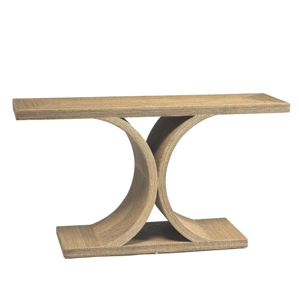 Ipanema Console 60 x 18 x 32 H inches Plywood, Rope Veneer Tan