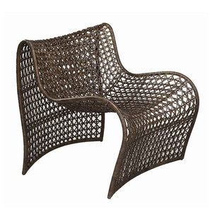Lola Occasional Chair 36 x 28 x 31 H inches, Seat 15 H inches Woven Leather, Iron Brown