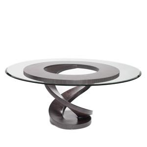 Fleur Dining Table Base 51 diameter x 30 H inches Ebony Veneer