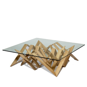 Futura Cocktail Table 50 x 50 x 14.5 H inches Wenge Veneer Natural