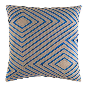 Dynamique Textured Pillow - DMR-004 18 x 18 inches Cotton Blue