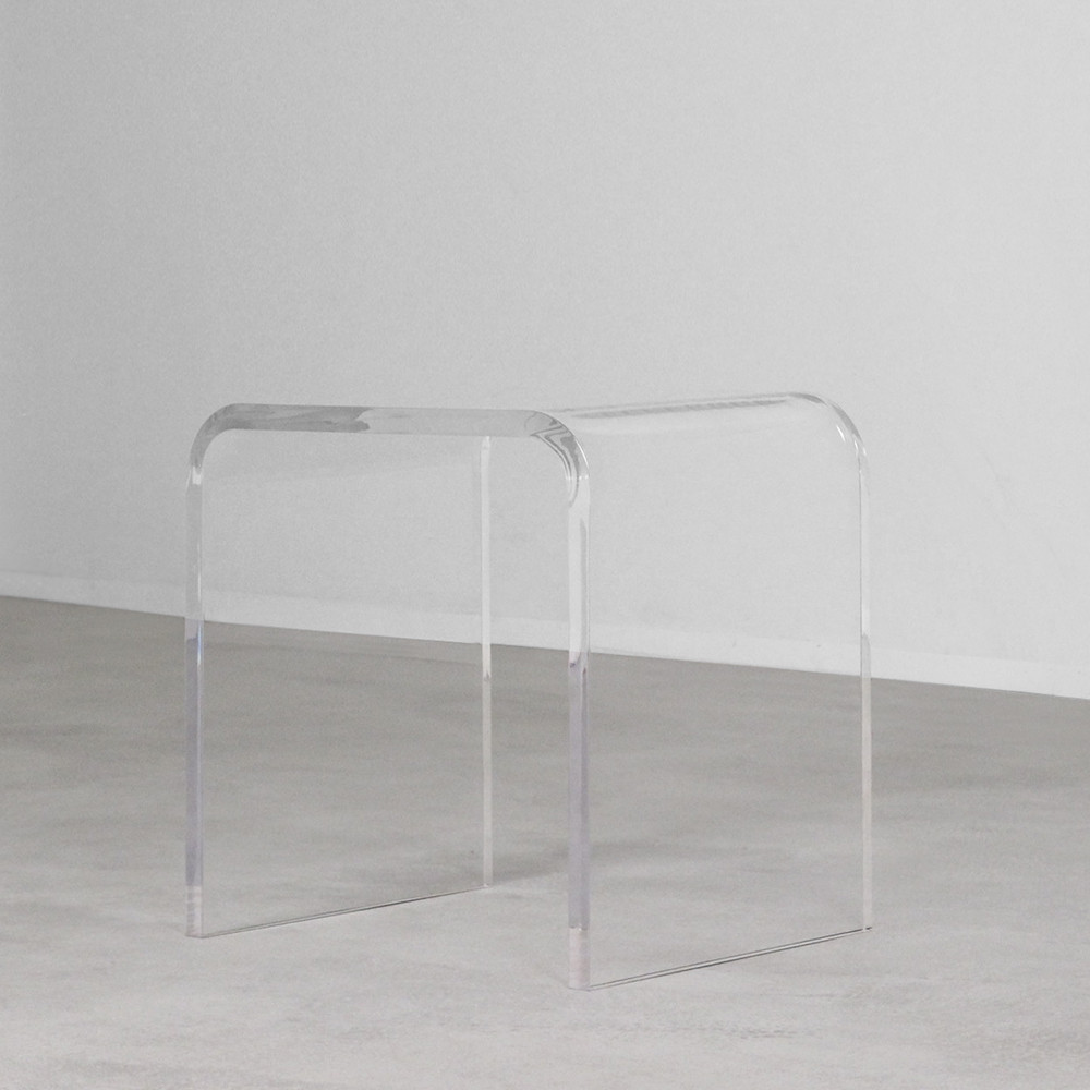 Bel Air Acrylic Side Table 20 x 16 x 20 H inches