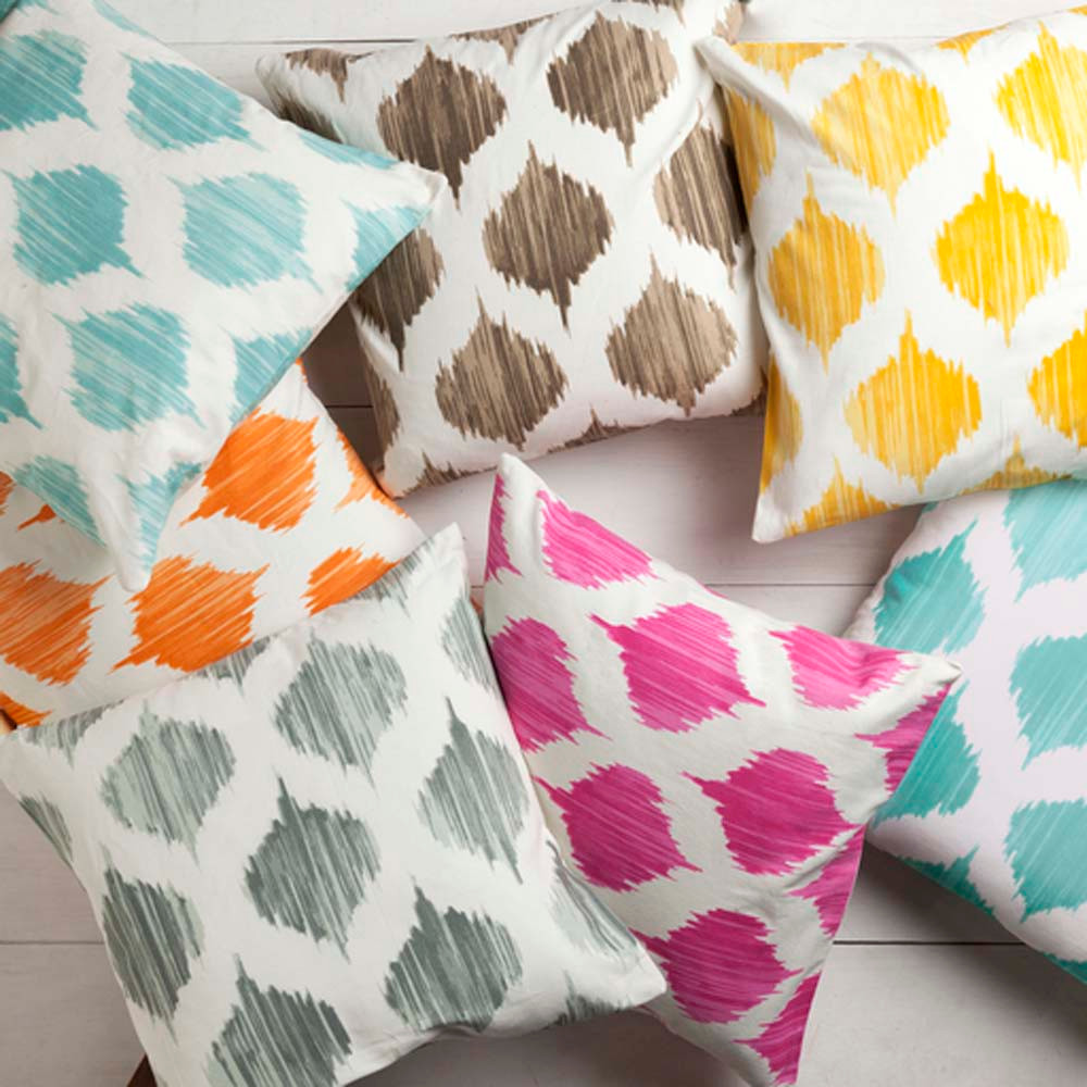 Oh Gee! Moroccan Pillows 18 x 18 inches Cotton