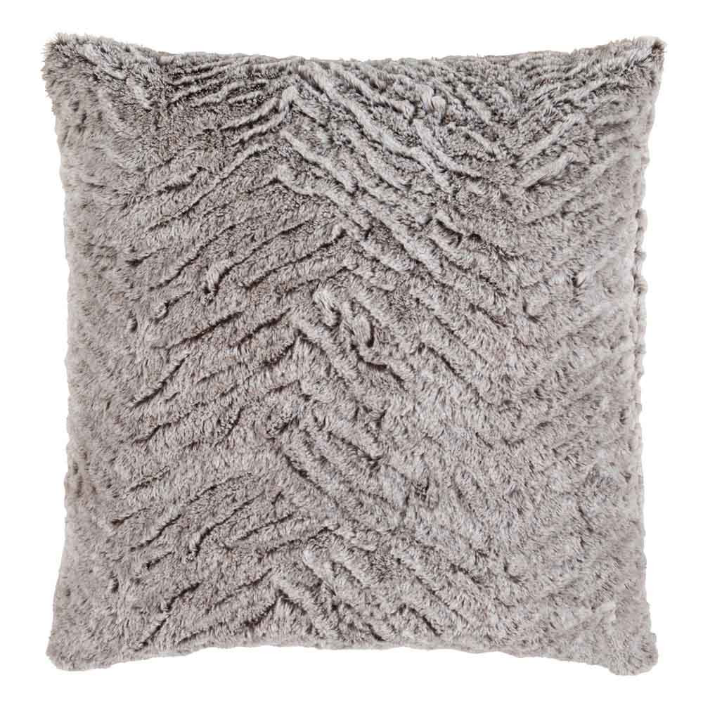 Sculpterra Faux Fur Pillow - FLA-002 18 x 18 inches Polyester