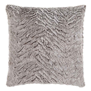Sculpterra Faux Fur Pillow - FLA-002 18 x 18 inches Polyester