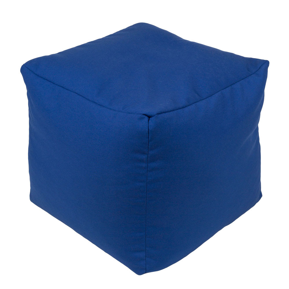 Balcony Outdoor Pouf - EIPF-008 18 x 18 x 18 H inches Acrylic Blue