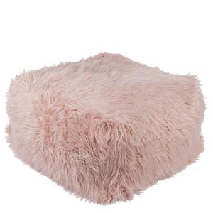 Boudoir Faux Fur Pouf - KHPF-004 24 x 24 x 14 inches Acrylic, Polyester Blush