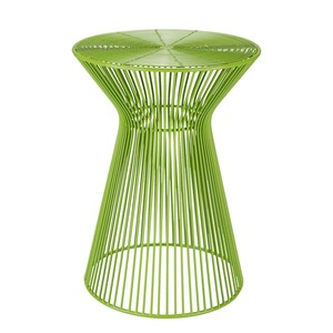 Colores Metal Side Table - FIFE-103 13.5 dia  x 18 H inches Iron  Lime