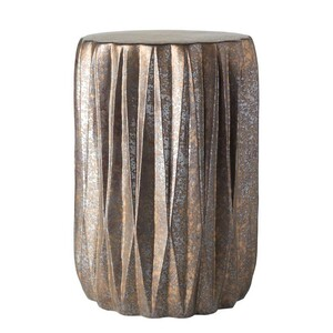 Tahiti Ceramic Stool 12.25 dia x 17.25 H inches Ceramic Style B