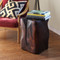 Pecos Natural Edge Side Table  14.5 x 14.5 x 20 H inches Mahogany Finish Oiled Topcoat