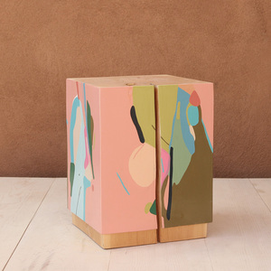La Figura Painted Cube Table 15 x 15 x 19.5 H inches