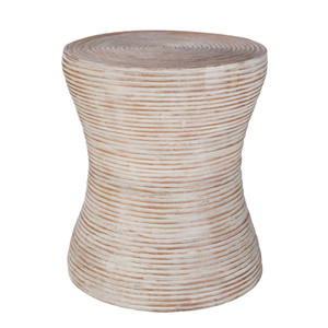 Balinese Side Table - BAS-001 15.5 dia  x 18 H inches Rattan