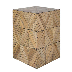 Bambou Cube Table - CGN-001 13 x 13 x 19.5 H inches Bamboo Style B