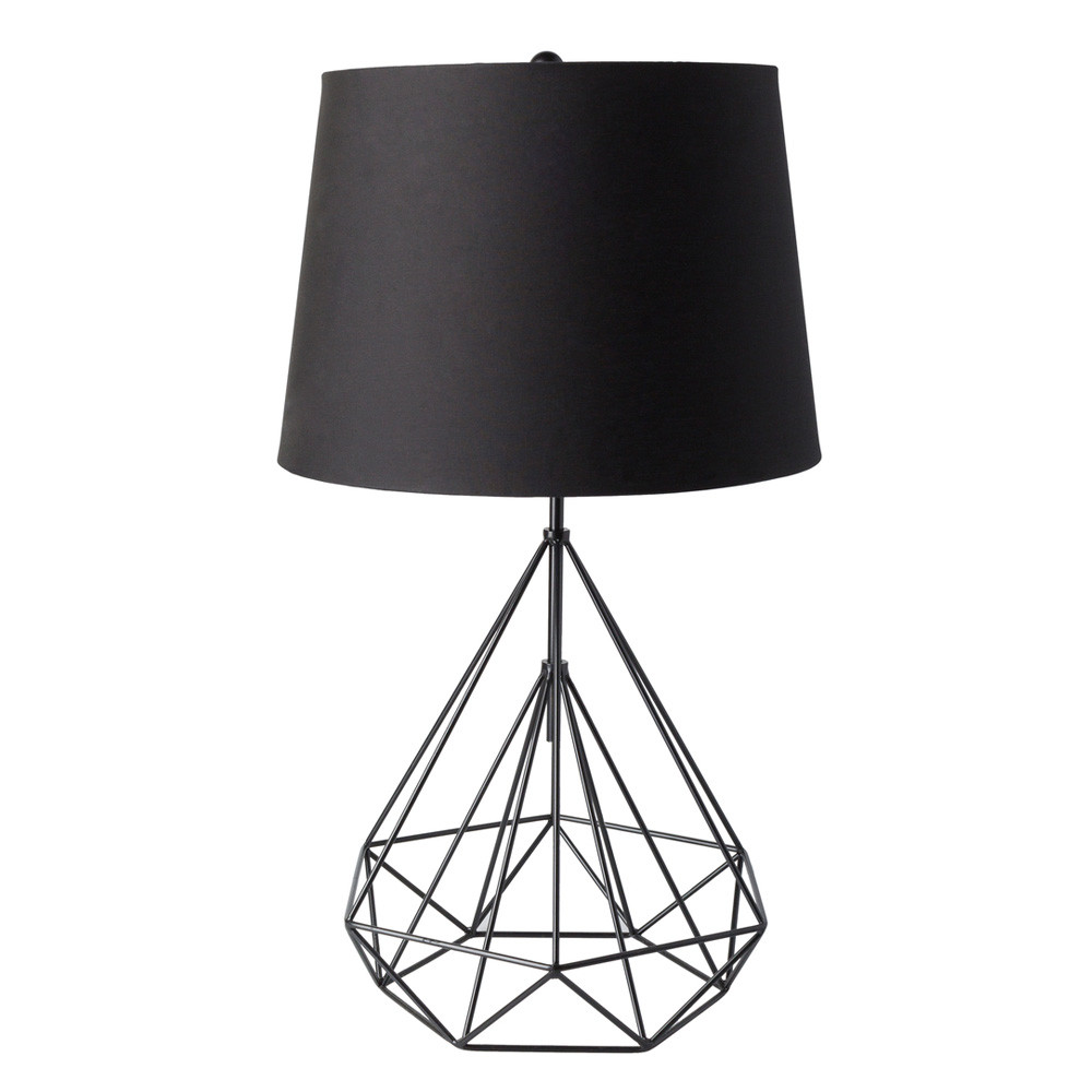 Lineo Metal Table Lamp - FUL-100 17 dia x 29 H inches Metal, Linen Black