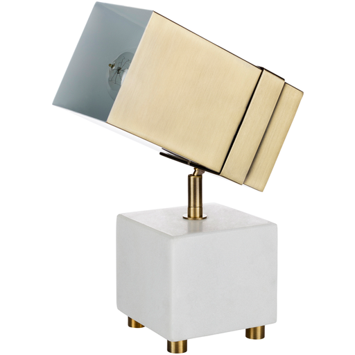 Café Society Marble and Brass Spotlight Lamp  - LNN-001 9 x 4.25 x 10.75 H inches Marble, Metal