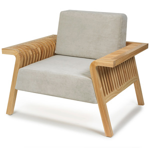 Flori Lounge Chair 38 x 32 x 33 H inches, Seat 17 H inches Pine, Faux Suede