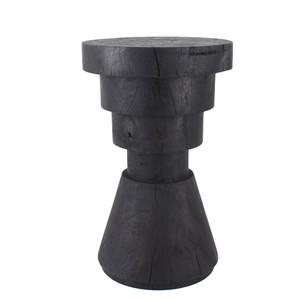 Aparato Side Table 14 dia x 22 H inches Ebony Finish Sealed Topcoat