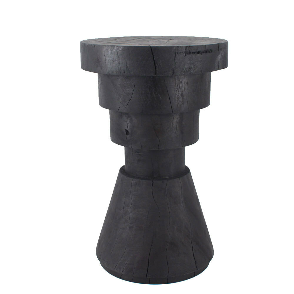 Aparato Side Table 14 dia x 22 H inches Ebony Finish