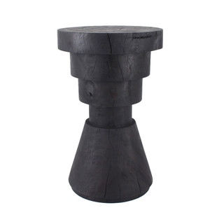 Aparato Side Table 14 dia x 22 H inches Ebony Finish