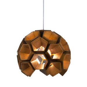 Constella Suspension Lamp 16 diameter x 14 H inches Lauan Wood